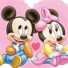 Mickey y Minnie Bebe